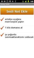 Screenshot of Konuş Yazdır