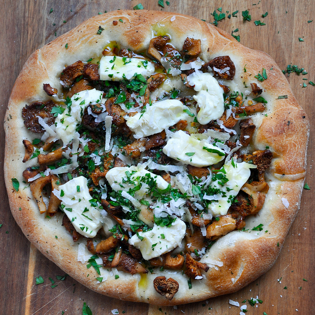 Wild Mushroom and Crescenza Pizza Recipe | Yummly