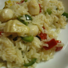 Scallop and Chile Paella