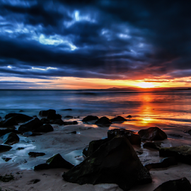 Lossiemouth dusk by Gary Power - Landscapes Sunsets & Sunrises