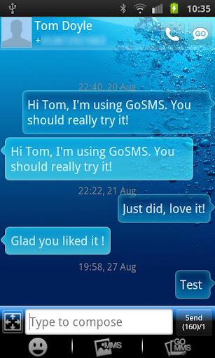 GO SMS PRO THEME Underwater