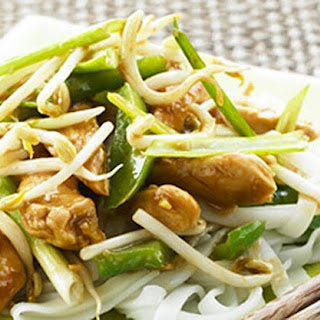 Honey Chicken with Spring Onions