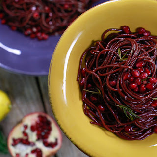 Chianti-Glazed Spaghetti or Linguini with Rosemary and Pecorino