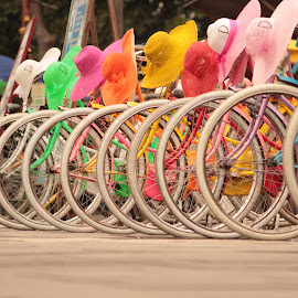 colourfull bicycle by Nurdianto Baskoro Adi - Transportation Bicycles ( #ibasphotograph )