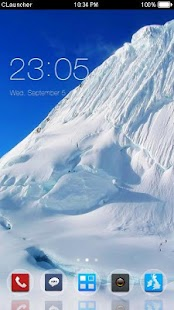 Pure Snow Mountain Theme - screenshot