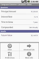 Screenshot of Compound Interest Calculator