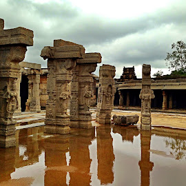 From the Era bygone by Ami Bhat - Instagram & Mobile iPhone ( lepakshi, historical, open air kalyana mantapa )
