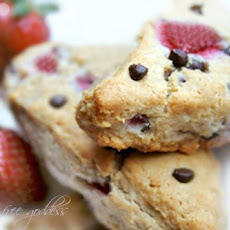 Gluten-Free Strawberry Chocolate Chip Scones