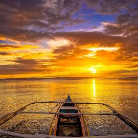 by Karen Lee - Landscapes Sunsets & Sunrises ( blue, orange. color )