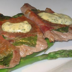 Veal and Asparagus With Basil Mayonnaise