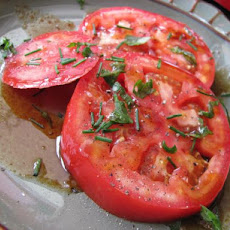 Heirloom Tomatoes With Pomegranate Molasses Drizzle
