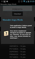 Screenshot of Résoudre-Angry Words