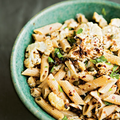 Whole-Wheat Penne with Spicy Roasted Cauliflower