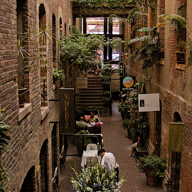 Omaha Old Market Passage Way by Brent Dreyer - City,  Street & Park  Markets & Shops ( urban, shops, dining, restaurant, people )