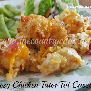 Cheesy Chicken Tater Tot Casserole {Slow Cooker}