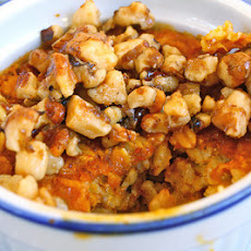 Baked Pumpkin Oatmeal with Walnut Streusel