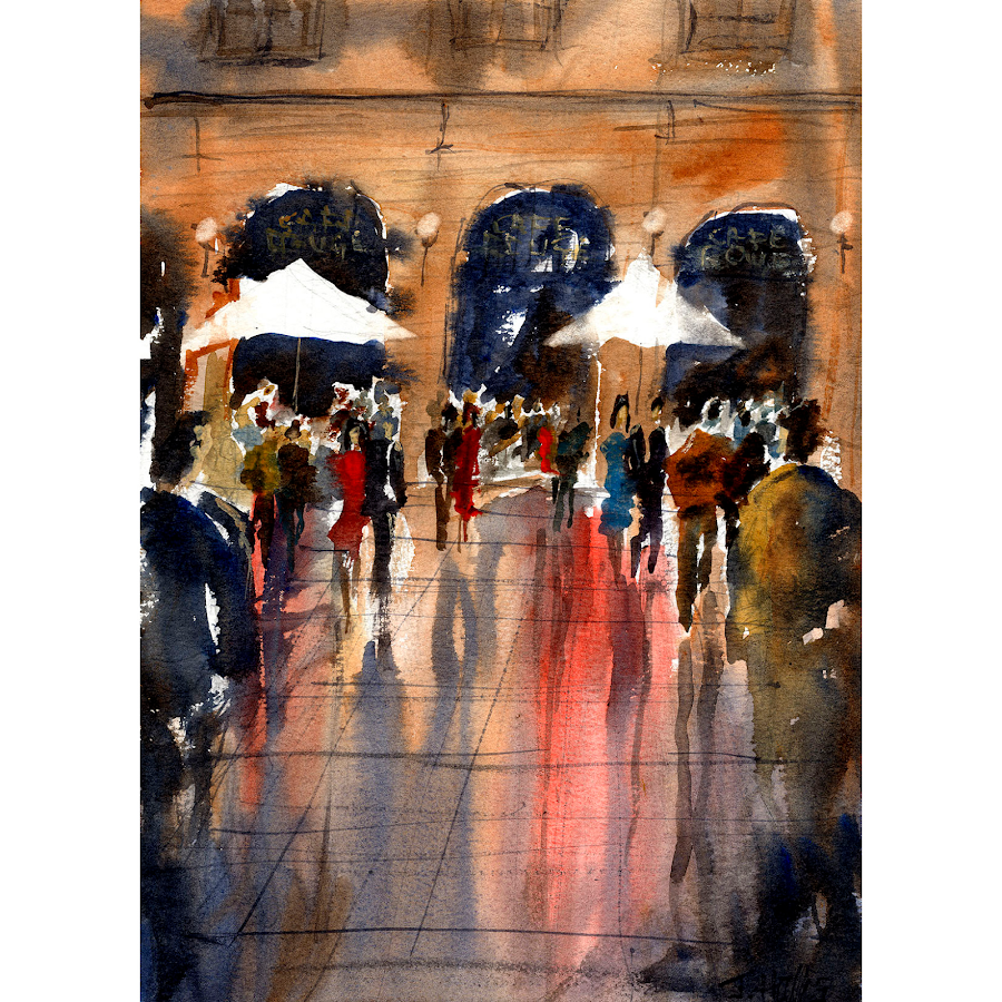 London hays galleria print art from a painting