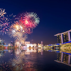 The city state's birthday by Toh Wee Siang - City,  Street & Park  Skylines