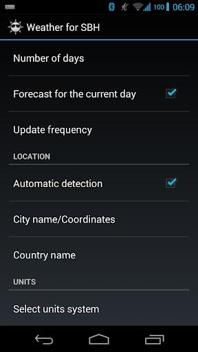 Weather for SBH50/52 - screenshot