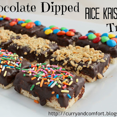 Chocolate Dipped Rice Krispies Treats