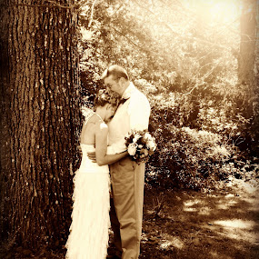 A Moment by Sue Neitzel - People Couples ( love, sepia, events, wedding, brides )