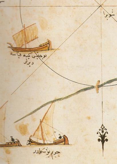 Veleros Piri reis delta Nilo
