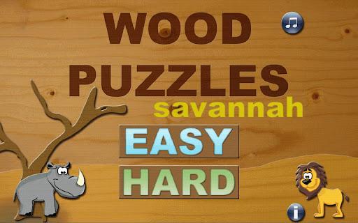 Wood Puzzles HD Savannah
