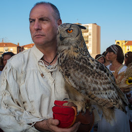 The man and is Owl by Mario Poddighe - People Portraits of Men