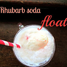 Rhubarb Soda Float