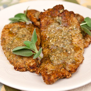 Turkey Cutlets With Walnuts & Sage