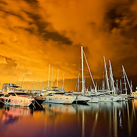 NIGHT VIEW MARINA HERZLIYA by JOel Adolfo - Transportation Boats ( street&park, neighborhoods, city )