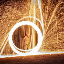 Light Painting by Shahzeb Vakani - Abstract Light Painting ( steel wool, abstract art, fireworks, light, painting, fire )