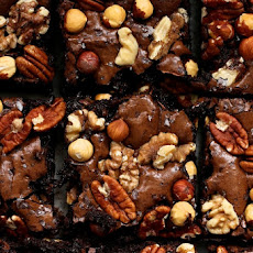 Extra Nutty Dark Chocolate Brownies
