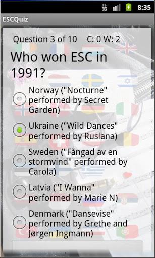 巴庫2012年歐洲電視網QuizPack