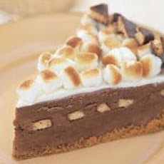 S'mores Ice Cream Pie with Warm Milk Chocolate Sauce
