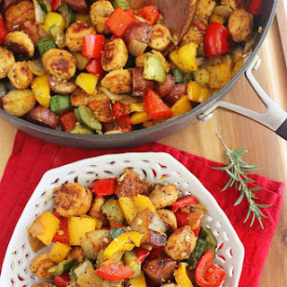 Summer Vegetable, Sausage and Potato Skillet