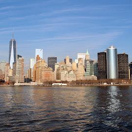 Manhattan by Eduardo Vilaça - City,  Street & Park  Skylines ( skyline, building, manhattan, nyc, landscape, usa )