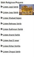 Screenshot of Sikh Religious prayers