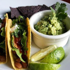 Soft Bean Tacos With Avocado Salsa