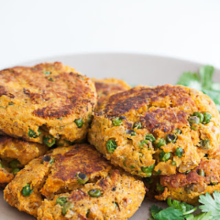Sweet Potato and Chickpea Veggie Burger Patty