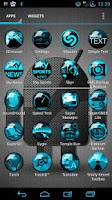 Screenshot of Icon Pack Blue HD OrbiconS