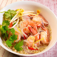 Clay Pot Shrimp with Brown Rice