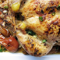 Roast Chicken with Apples, Thyme and Shallots