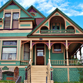 Victorian Beauty by Becky McGuire - Buildings & Architecture Homes ( home, mcguire, tvlgoddess, colorado, cripple creek, house, town, small, becky,  )