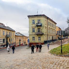 Lviv #2 by Andrey Dayen - City,  Street & Park  Street Scenes ( ukraine, street, buildings, scene, architecture, lviv, city )