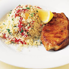 Paprika Pork Chops With Roasted Pepper Couscous