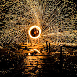 the portal by Stefan Emmerich - Abstract Fire & Fireworks ( steel wool, portal, steelwool, long exposure, light art,  )