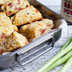 Ham, Cheddar and Green Onion Scones