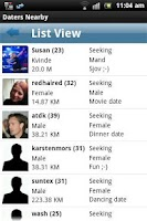 Screenshot of Daters Nearby
