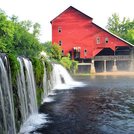 Rockbridge Mill by Larry Strong - Buildings & Architecture Public & Historical ( mill, waterfall, historic place )